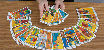 Divination of the future through the reading of the tarot cards