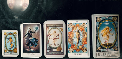 Types of cards for the tarot