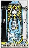tarot card The Priestess