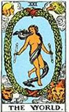 tarot card The world
